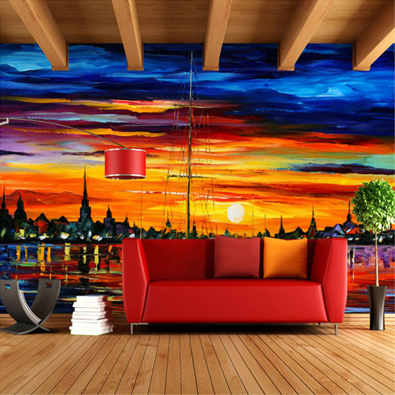 Custom Any Size 3D Mural Wallpaper European Living Room Sofa TV Wall  Painting Wallpaper Murals Home Decor Papel De Parede 3D
