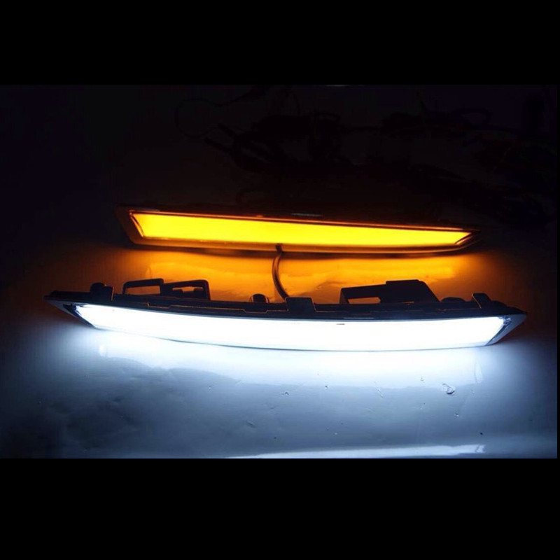 for FORD Kuga Escape 2013 2014 2015 Turn Signal Light and turn off Relay 12V GUIDE LED CAR DRL Daytime Running light accessories turn off and dimming style relay led car drl daytime running lights for ford kuga 2012 2013 2014 2015 with fog lamp