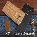 Vinheta de corpo inteiro case para samsung galaxy s7 s7 edge madeira grão completo protetor de tela tampa do decalque para samsung note 3 4 5