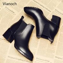 Vianoch New Fashion Ankle Boots Woman High Heels Winter Warm Women Shoes Platform Pumps Shoe Lady wo1808148