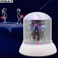 Projector Lamp Romantic Colorful Popular Twilight Night Light Up Toys LED Laser Light Flashing Lamp For