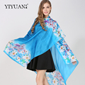 100% Natural Silk Scarves High Quality Fashion Printed Female Scarf Shawl Sunscreen Air Conditional Shawls Women Neckerchief