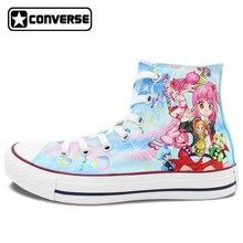 Zapatillas de deporte de Las Mujeres de Los Hombres de All Star Chicas Chicos Zapatos Anime Shugo Chara Diseño Pintado A Mano Zapatos Cosplay Regalos Únicos