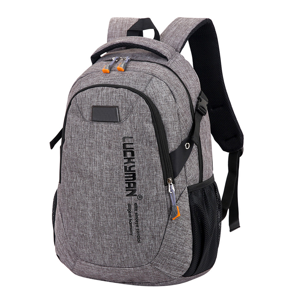 Fashion Causal Waterproof <font><b>Backpack</b></font> canvas Travel bag <font><b>Backpacks</b></font> <font><b>Unisex</b></font> laptop bags Designer student bag Mochila Masculina image