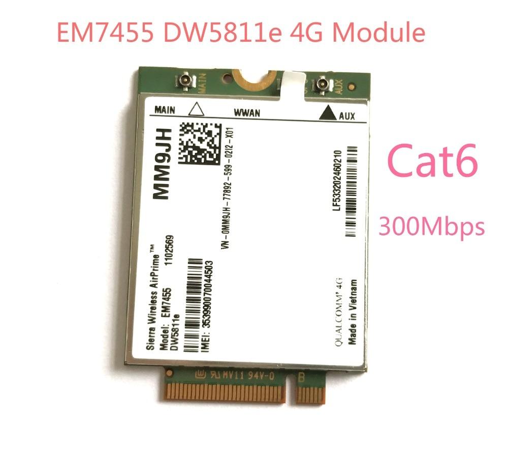 EM7455 DW5811e LTE-FDD LTE-TDD 4G Module 4G Card Cat6 For Dell Laptop PN MM9JH цена 2017