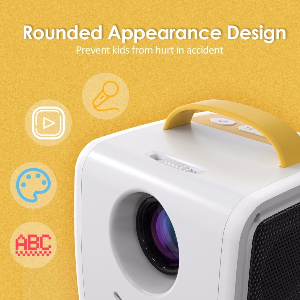 Q2 MINI Projector 700 Lumens Parent-child Portable Projector Mini LED TV Home Beamer Children's gift, Children Education (4)
