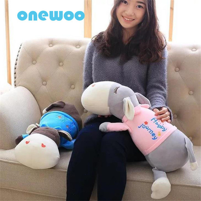 Super Cute Stuffed Love Donkey Toys Pillow Software Lying Sleeping Animal Doll Plush Comfort Sweet Baby Toys Creative Kids Gifts