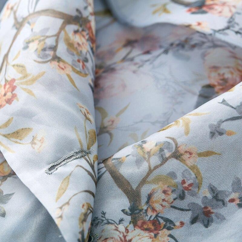 Fa10092c Long Manteau Floral Mince Plein Manches Veste Tranchée Lâche Impression Femmes Arc 2019 Printemps Mode Femelle Vintage a4qzRR