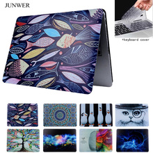 JUNWER  Oil Printing Drawing Hard Case For Macbook Air 11 12 13 Pro13 15 with  Retina Case laptop Matte shell Protective Bag