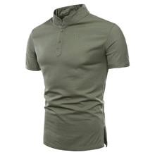 2018 Новий модний бренд чоловічий одяг Твердий колір короткий рукав Тонкий футболка з підкладкою Чоловіча бавовняна футболка Повсякденні футболки з 4XL 5XL