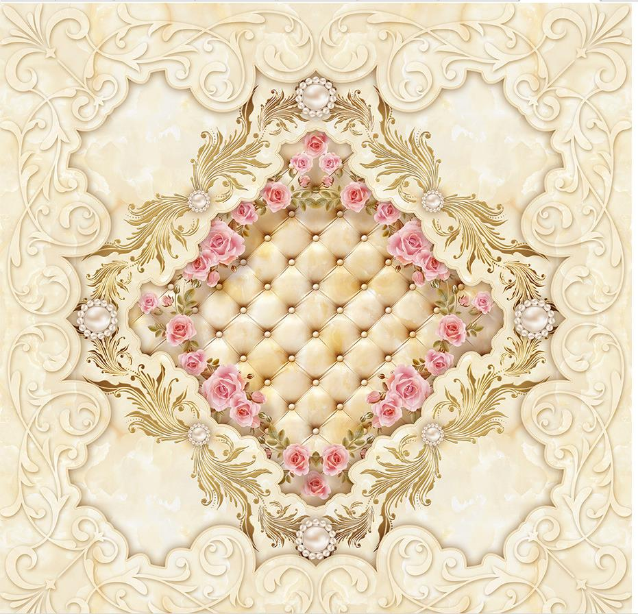 Simple Wallpaper Marble Heart - 3d-floor-painting-wallpaper-European-marble-tiles-flower-relief-3D-flooring-3d-bathroom-wallpaper-waterproof-3d  Collection_246977.jpg