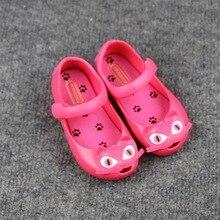 Mini Melissa Cat Tête Filles Sandales Salés Jelly Chaussures Cat Bottes Enfant Sandales Étanche Mini melissa Chaussures Pour Filles