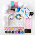 Full Acrylic Powder Glitter Liquid Nail Art UV Gel Primer Tools Set