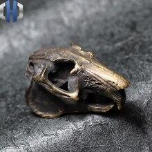 Men And Women Brass Original Handmade Mouse Skull Design Retro Pendant Necklace Keychain Knife Pendant