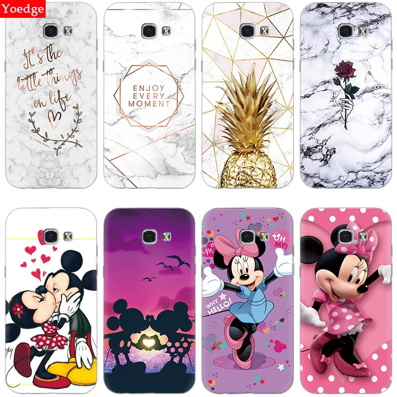Silicone Case For Samsung Galaxy A5 2017 A520F A520 Cartoon Cute Phone Case For Samsung A5 2015 2016 Soft TPU Marble Coque Cover image