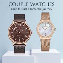 NAVIFORCE Couple Watch for Men Women Fashion Lover's Watch