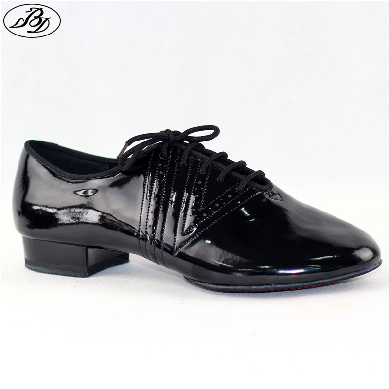 New Model Men Standard Dance Shoes BD319 Split Sole Professional Ballroom Dance Shoe Dancesport  Shining Anti-Slide Shoe