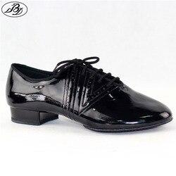 Nuevo Modelo de zapatos de baile estándar para hombre BD319 con suela dividida zapato para sala de baile profesional zapato antideslizante brillante