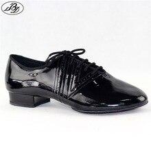 새로운 모델 남자 표준 댄스 신발 bd319 분할 단독 전문 볼룸 댄스 구두 댄스 스포츠 빛나는 안티 슬라이드 구두