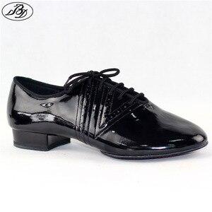 Image 1 - 새로운 모델 남자 표준 댄스 신발 bd319 분할 단독 전문 볼룸 댄스 구두 댄스 스포츠 빛나는 안티 슬라이드 구두