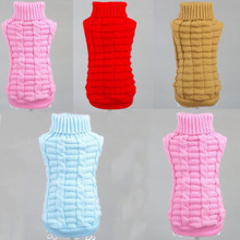 5 Colors Dog Sweater Christmas Clothes Pet XS Puppy Cat Pullover Jumper Knitted Dogs Clothing Winter Sweaters 58