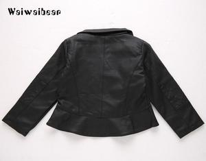 Image 3 - Waiwaibear puレザージャケットのウインドブレーカーベビージャケットショートコート服幼児春 & 秋子供のコート