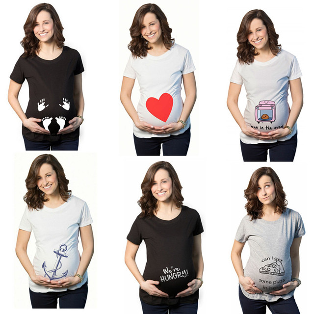 b228ca9187ffe Summer Pregnant Maternity T Shirts Short Sleeve Casual Pregnancy Clothes  Funny For Pregnant Women Marternity Clothing Tees Tops