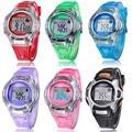 Kids Sports Digital LED Watches Wrist Watch Alarm Date Rubber Wrist &4656 Brand New High Quality Luxury Free Shipping
