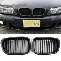 PAIR Matt Black Front Kidney Grilles Grill Fit For BMW E39 4 Door 525i 528i 530i 540i M5 2000 2003