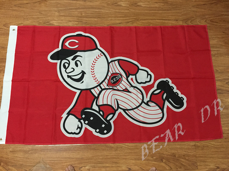 Cincinnati Reds Flag MLB Flag hot sell goods 3X5FT Sport Outdoor Banner brass metal holes Custom flag two sizes can Choose