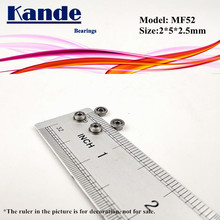 Kande Lager 10PCS MF52ZZ MF52Z MF52 Z MF52 ZZ MF52 Miniatur Flansch Lager F2x5x 2,5mm