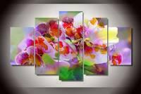 Có khung Abstrack Phong Lan Bức Tranh 2016 Thời Trang Trang Trí Nội Thất Living Phòng Bản In Canvas Bức Tranh Hoa