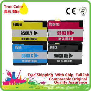 1 Set Replacement For HP 950 951 Ink Cartridge For HP Officejet Pro 8100 8600 251dw 276dw 8630 8650 8615 8625 Printer Full Ink
