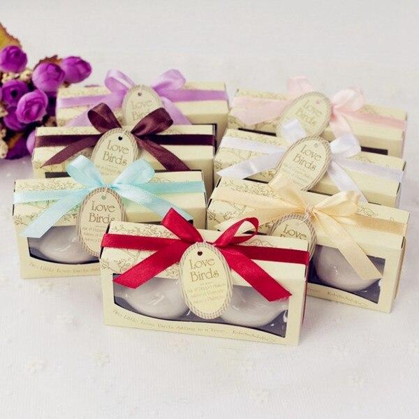 Cadeau cadeau pour invités de mariage | Agitateur à poivre et sel pour oiseau, avec étiquette personnalisée, fournitures cadeaux de fête, 100 ensembles = 200 pièces/lot