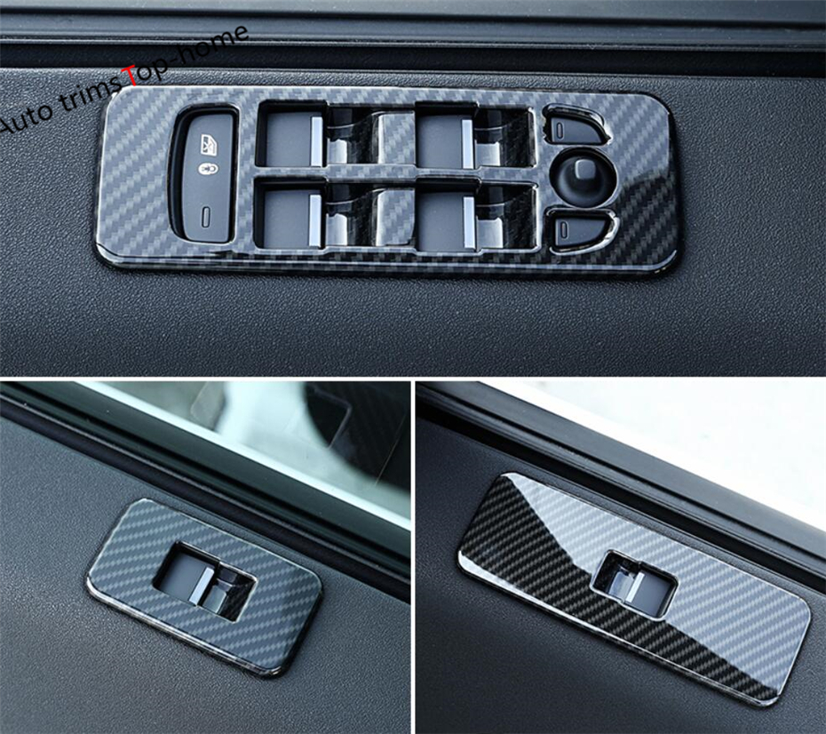 Car Black Door Window Switch Cover Trim For Land Rover Discovery Sport 2015-2018