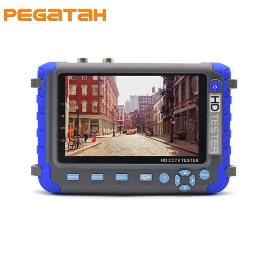 5inch CCTV Camera tester Support 5MP AHD TVI 4MP CVI Camera Test CCTV tester Support UTC control HD PTZ AHD and TVI Camera 3 5inch tft lcd cctv tester st3000s st4000s professional security installation tool surveillance camera video test ptz tester