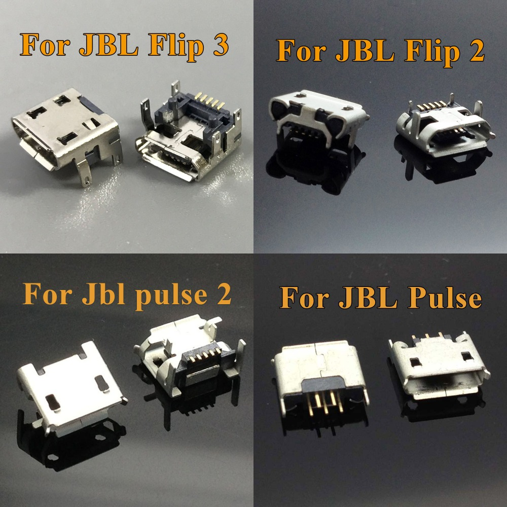 1x Para JBL FLIP 3 ChengHaoRan flip 2 Pulso 2 Bluetooth Speaker tipo B Micro USB 5pin feminino Jack de Carregamento soquete do Conector dock