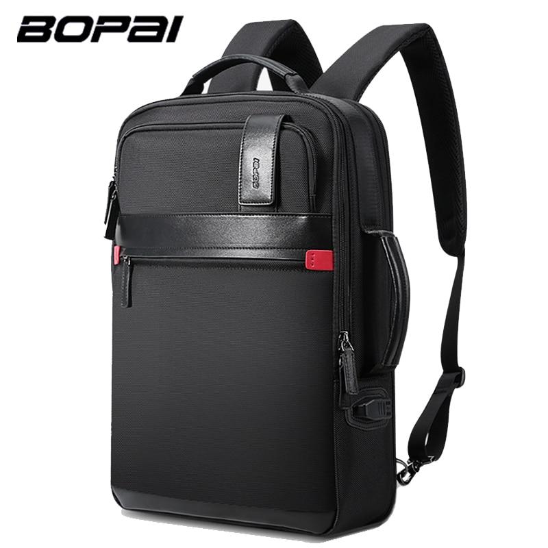 BOPAI Enlarge Multifunction Laptop Backpack Travel Bag Large Capacity Anti theft 15.6inch Laptop Backpack Men's Backpack