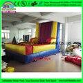 Balões saltando vara inflável velcro parede com terno inflável, parede de velcro