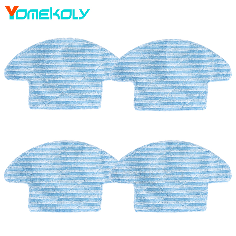 4PCS Mop Cloths For Haier Robot Vacuum Cleaner T320 Washable Reusable Replacement Microfiber Mopping Cloth Cleaner Parts steam mop for shark sk410 460 replacement pads for shark steam mop microfiber machine washable cloths 10pcs