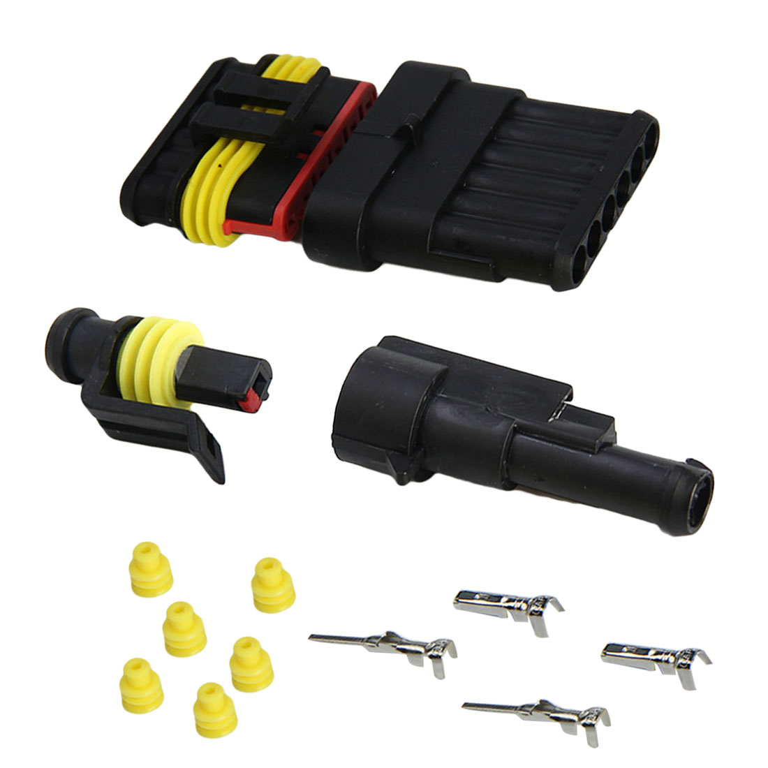 1 Set 1/2/3/4/5/6 Pin To Choose Seal Electrical Waterproof  Automotive Wire Connector Plug Terminals For Car