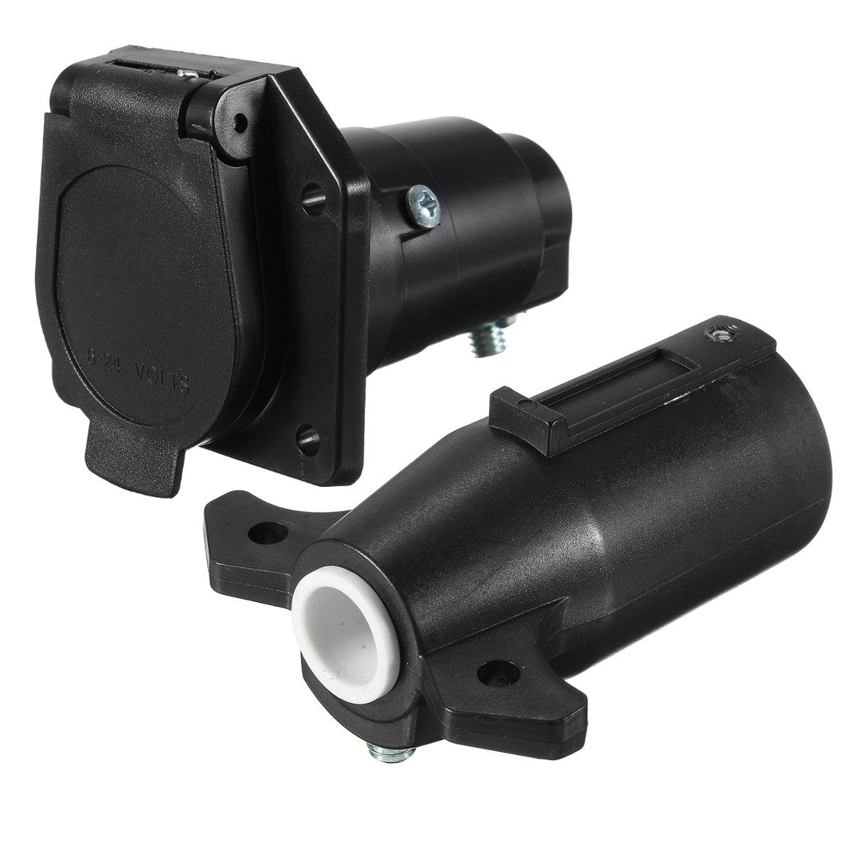 12V 13 Plug to 7 Pin Sockets Caravan Towing Conversion Trailer ...