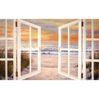 Hand painted Canvas art oil painting seascapes Sunset Beach beautiful artwork for living room wall decor high quality