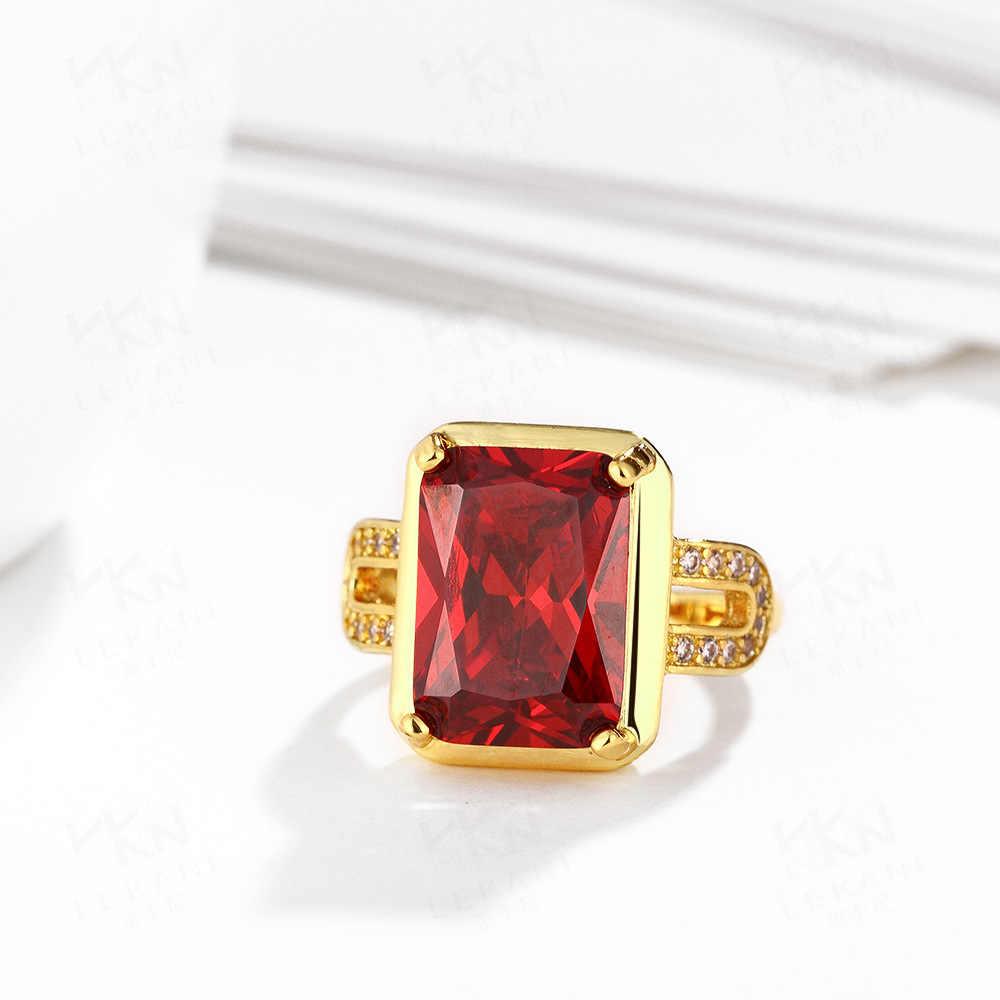 925 เงินสเตอร์ลิงอาเกตแหวนสำหรับผู้หญิงงานแต่งงานยี่ห้อทับทิมแหวนของขวัญเครื่องประดับ Bague หรือ Jaune หยก anillos de bizuteria