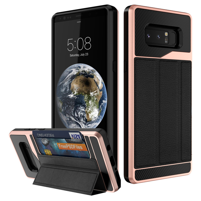 separation shoes cb576 611e9 US $7.99 30% OFF|For Samsung Galaxy Note 8 with Card Holder,WEFOR Wallet  Case with Credit Card Holder Slim Leather Shockproof Protective Case-in ...