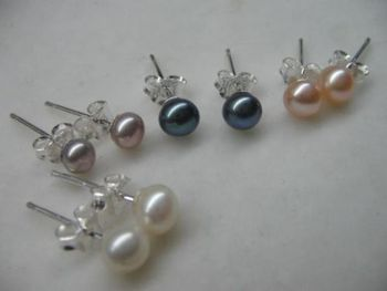 Miss charm Jew00002 Lot 50pairs AAA luster pearl 925siver earring