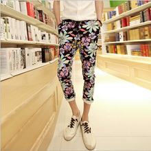 Free shipping !!! 2016 Men's fashion leisure nine points printing harlan tether nine points conical pants / M – XL