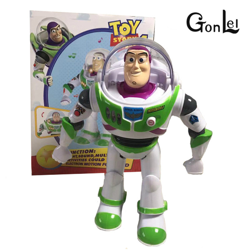 28cm Movie Action Toy story Figures Doll Fun Multilingual Vocal Glowing Buzz Lightyear Toy Doll