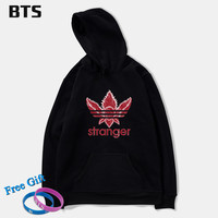 BTS Stranger Things Oversized Hoodie Print Casual New Fashion Hot Sale Creative Winter Hoodies Men Sweatshirts