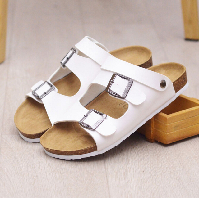 2016 New Roman Style Gladiator Sandals Women Summer Couples Slippers Cork Slippers 2 Way Wearing Beach Sandals Flip Flops